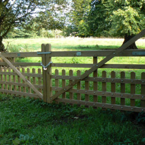 Closed Ranch Gate