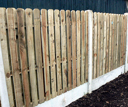Double Sided Hit and Miss Timber Fencing Panel