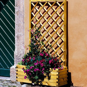 Fink Planter With Trellis
